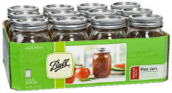 Ball Regular Mouth Palleted Canning Jars