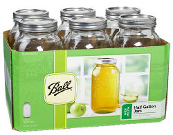Ball Wide Mouth Palleted Canning Jars