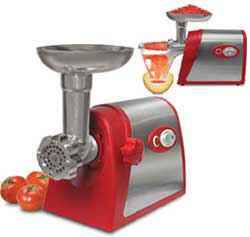 Weston #5 Deluxe Electric Meat Grinder with Tomato Strainer Attachment